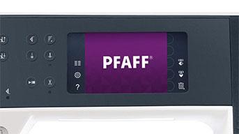 Pfaff® színes érintőképernyő