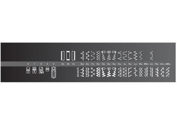 Pfaff select 2.2 varrógép öltésminták