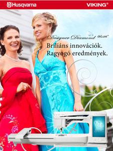 Husqvarna Designer Diamond deLuxe varró- és hímzőgép ismertető