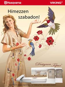 Husqvarna designer topaz 20 varró-és hímzőgép ismertető